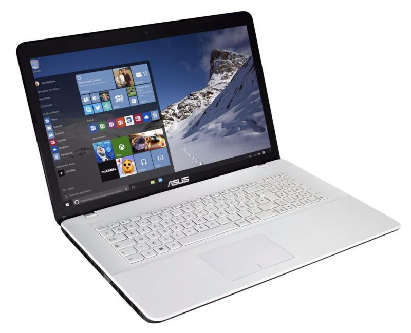 asus x751lav ty610t pc portable 17 pouces blanc bureautique 8 go core i3 499 laptopspirit. Black Bedroom Furniture Sets. Home Design Ideas