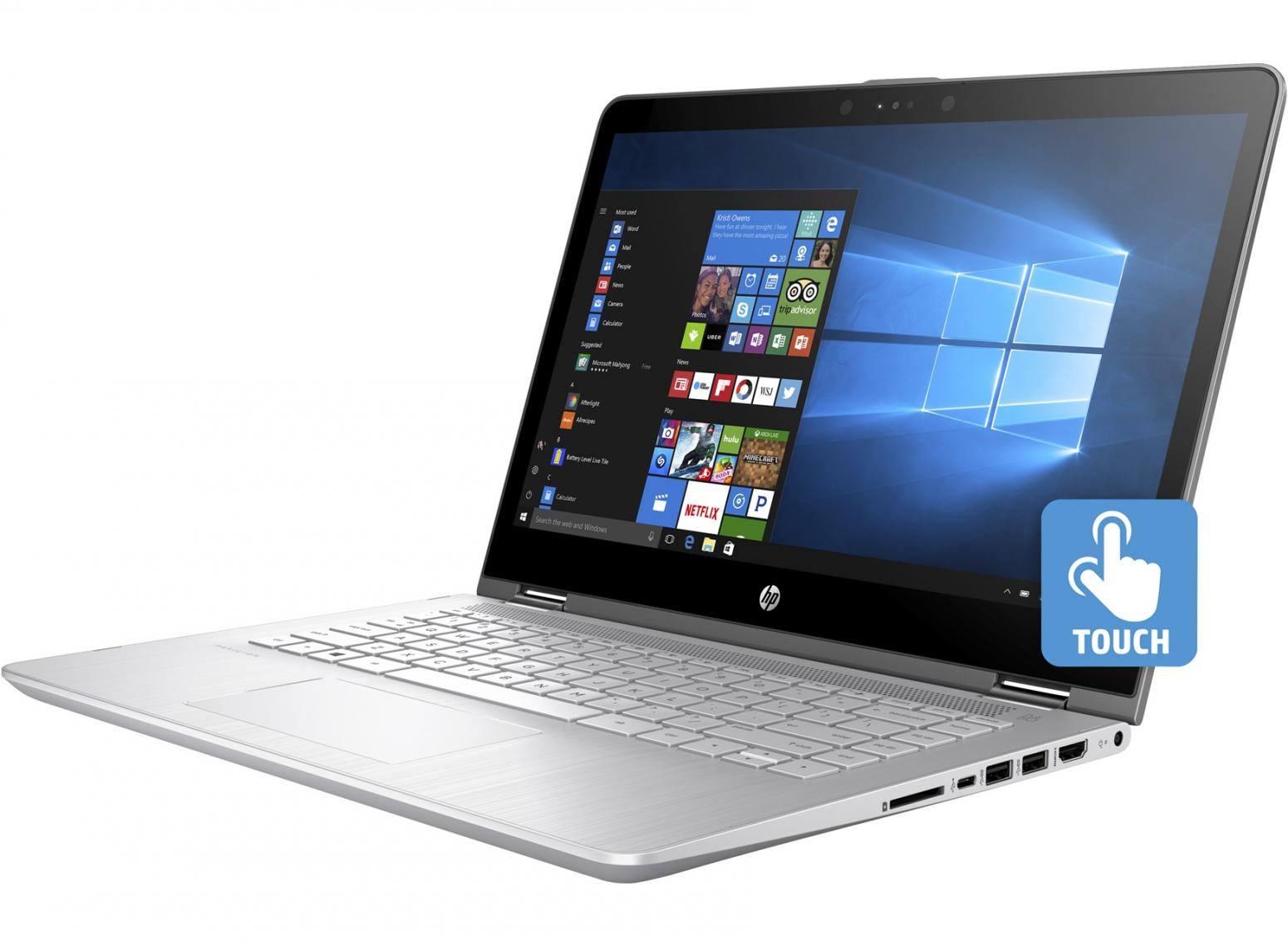 Ordinateur portable HP Pavilion x360 14-ba034nf SSD Argent Tactile IPS - photo 6
