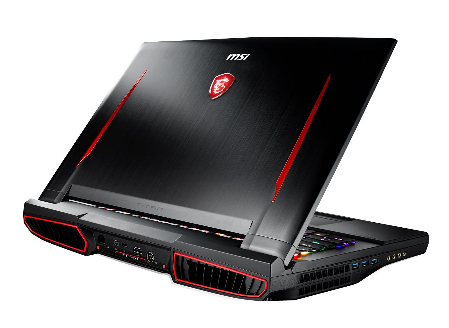 Image du PC portable MSI GT75 8RF-091FR Titan - SLI GTX 1070, 4K IPS, i9