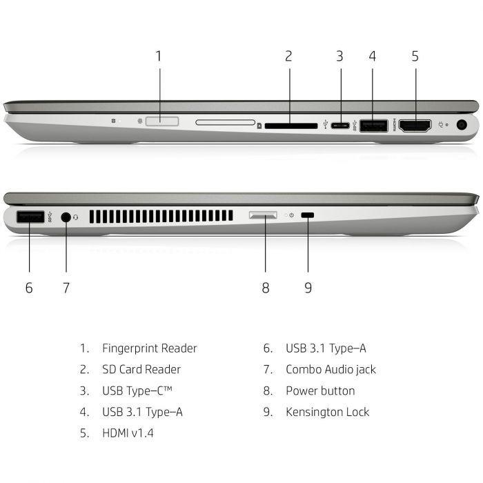 Ordinateur portable HP Pavilion x360 14-cd0001nf Gris - Tactile IPS SSD - photo 9