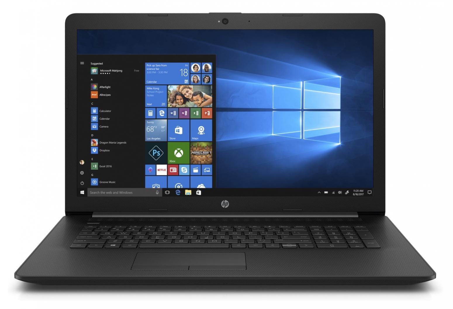 Image du PC portable HP 17-by0002nf Noir - Gemini Lake