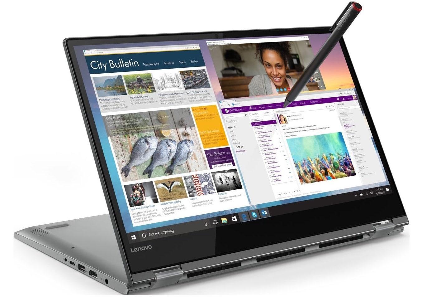 Ordinateur portable Lenovo Yoga 530-14ARR (81H9002SFR) Noir - Ryzen 5, SSD 512 Go - photo 2