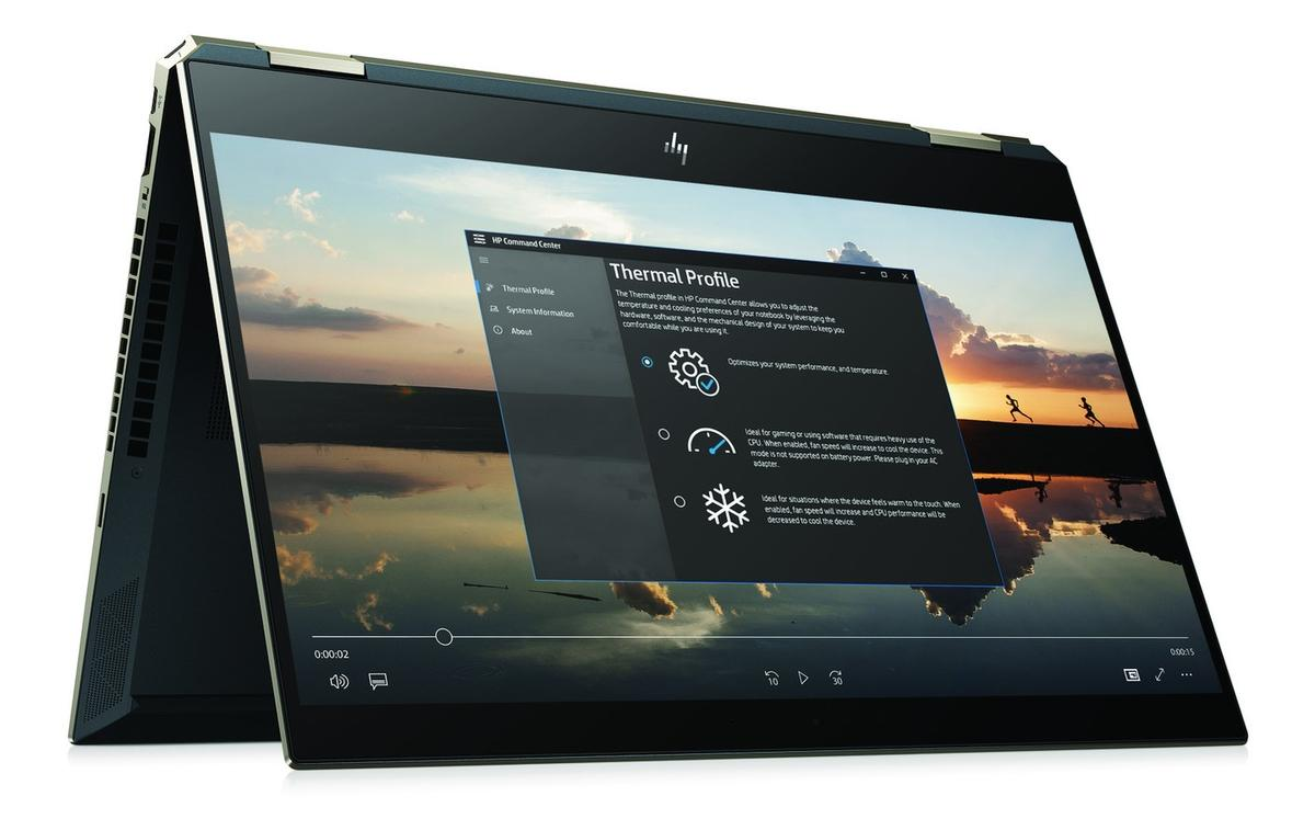 Image du PC portable HP Spectre x360 15-df0007nf Cendre 4K Tactile - Hexa Core, GTX 1050 Ti