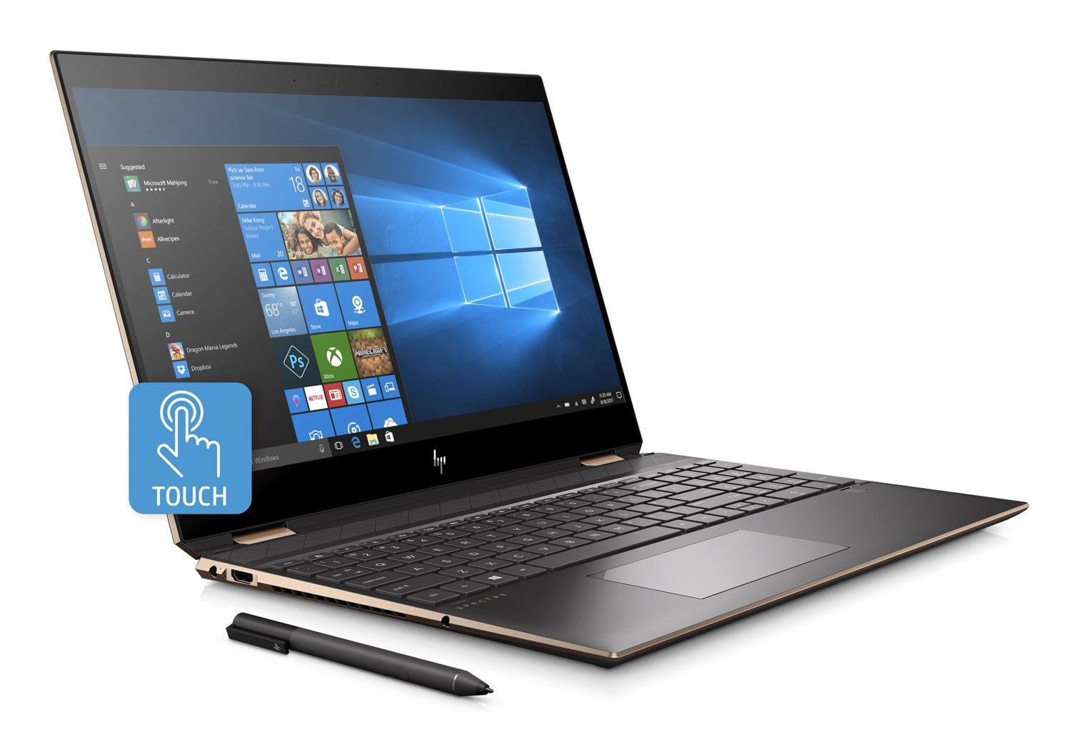 Ordinateur portable HP Spectre x360 15-df0007nf Cendre 4K Tactile - Hexa Core, GTX 1050 Ti - photo 2