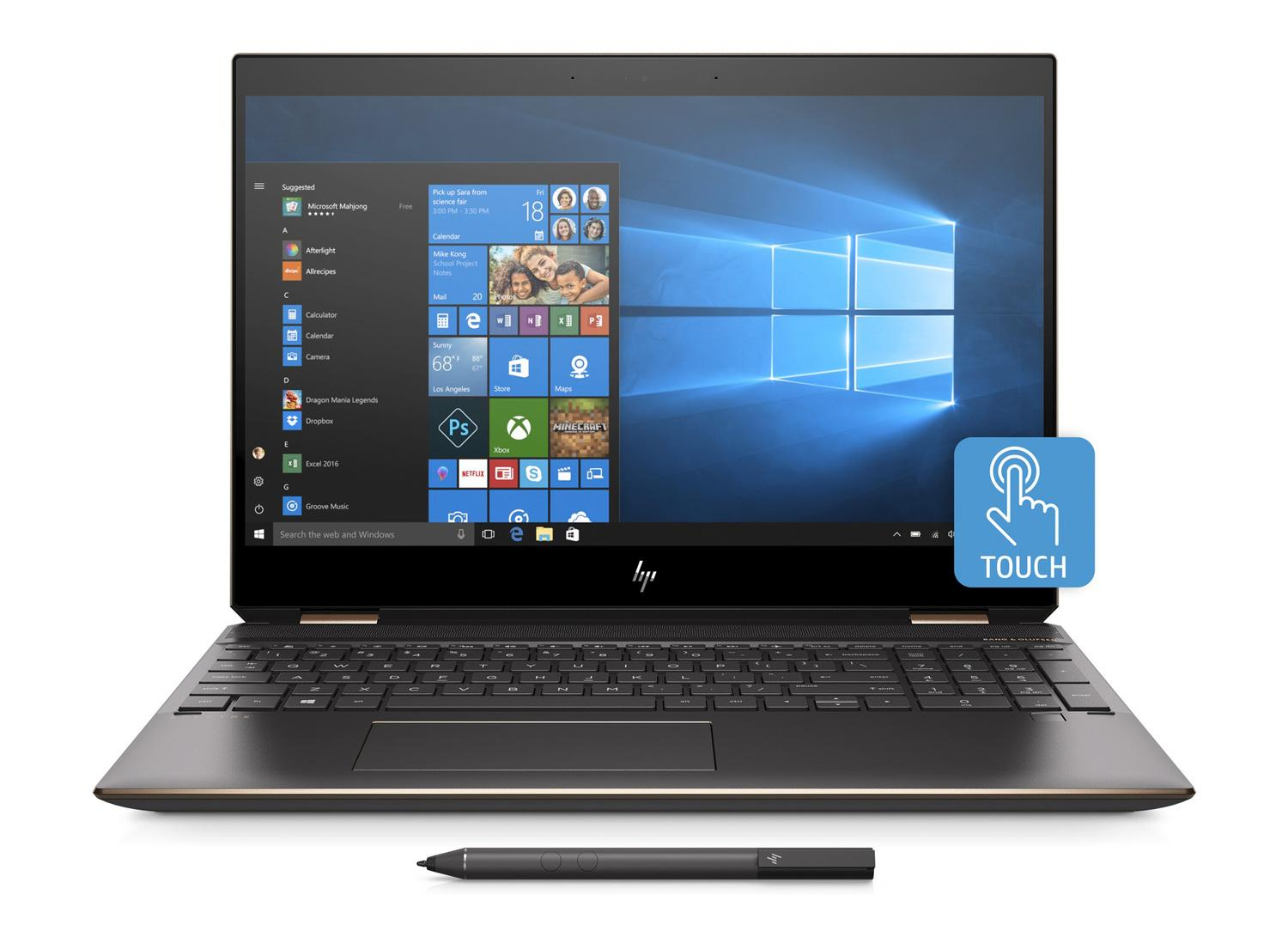 Ordinateur portable HP Spectre x360 15-df0018nf Cendre 4K Tactile - MX150 - photo 4