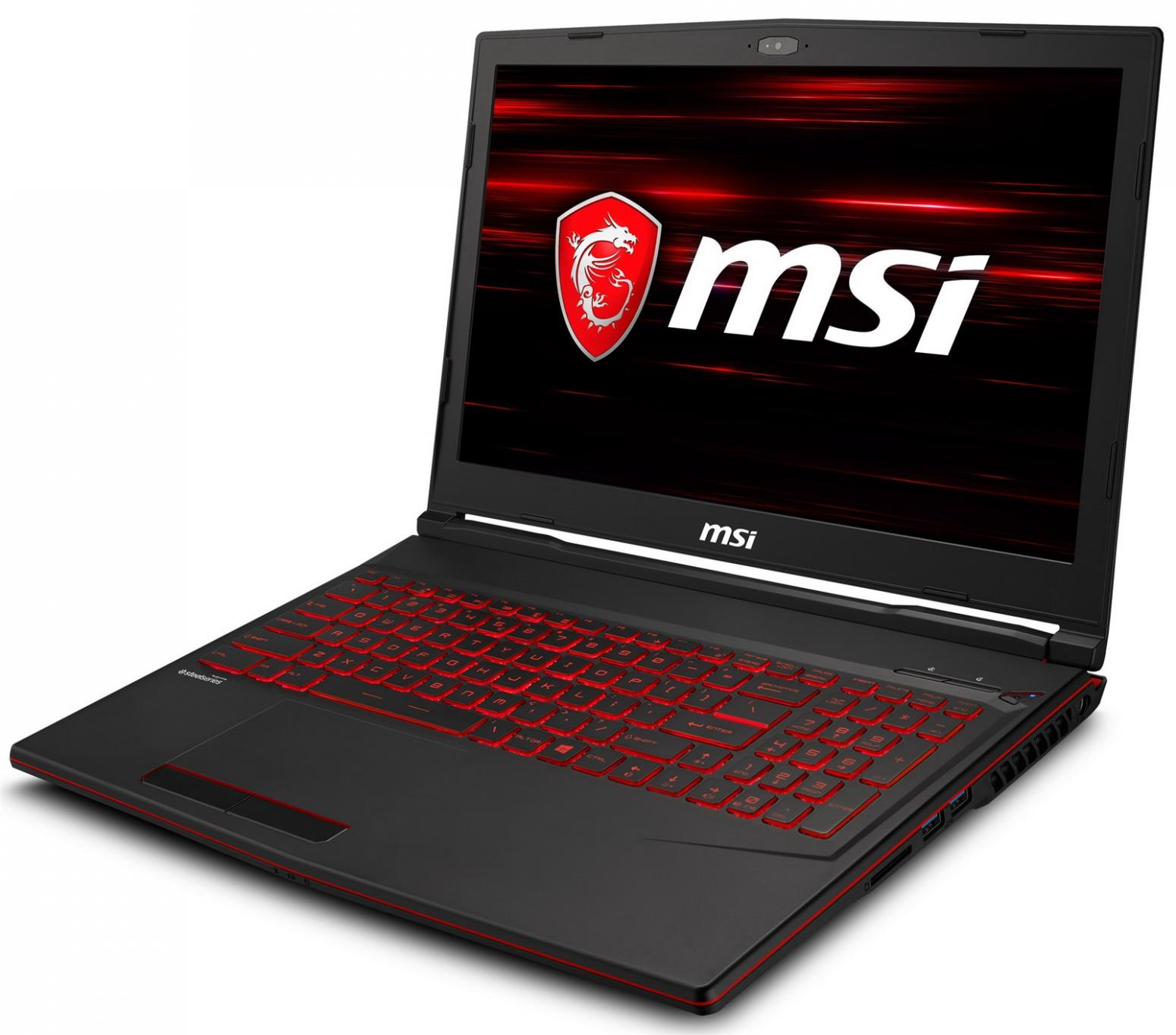 Image du PC portable MSI GL63 8SE-079XFR - RTX 2060, 120 Hz, Sans Windows