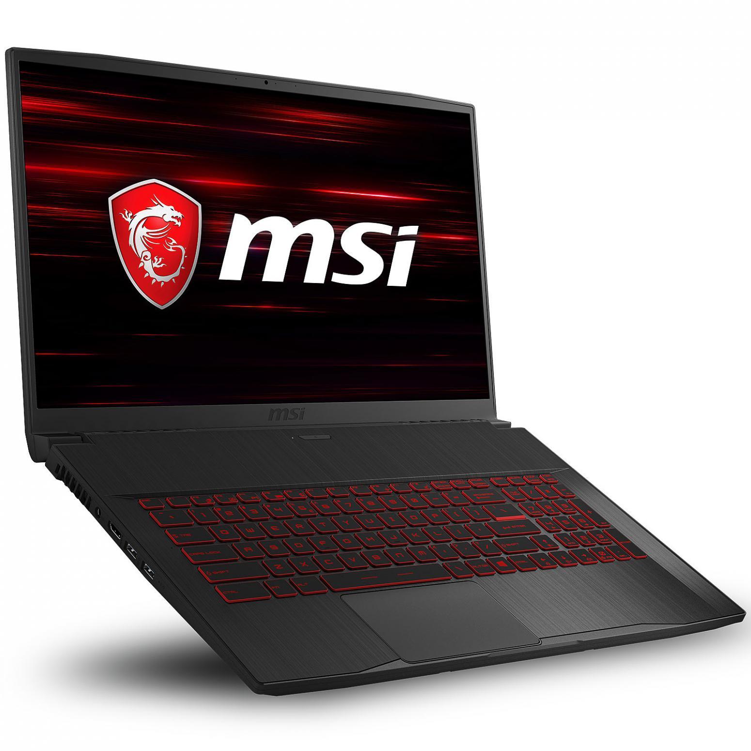 Image du PC portable MSI GF75 10SC-066XFR Thin - GTX 1650, 144Hz, Sans Windows
