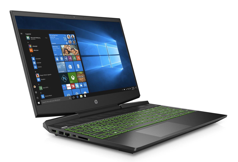 Image du PC portable HP Pavilion Gaming 15-dk1424nf Noir/Vert - GTX 1660 Ti Max-Q, 144Hz