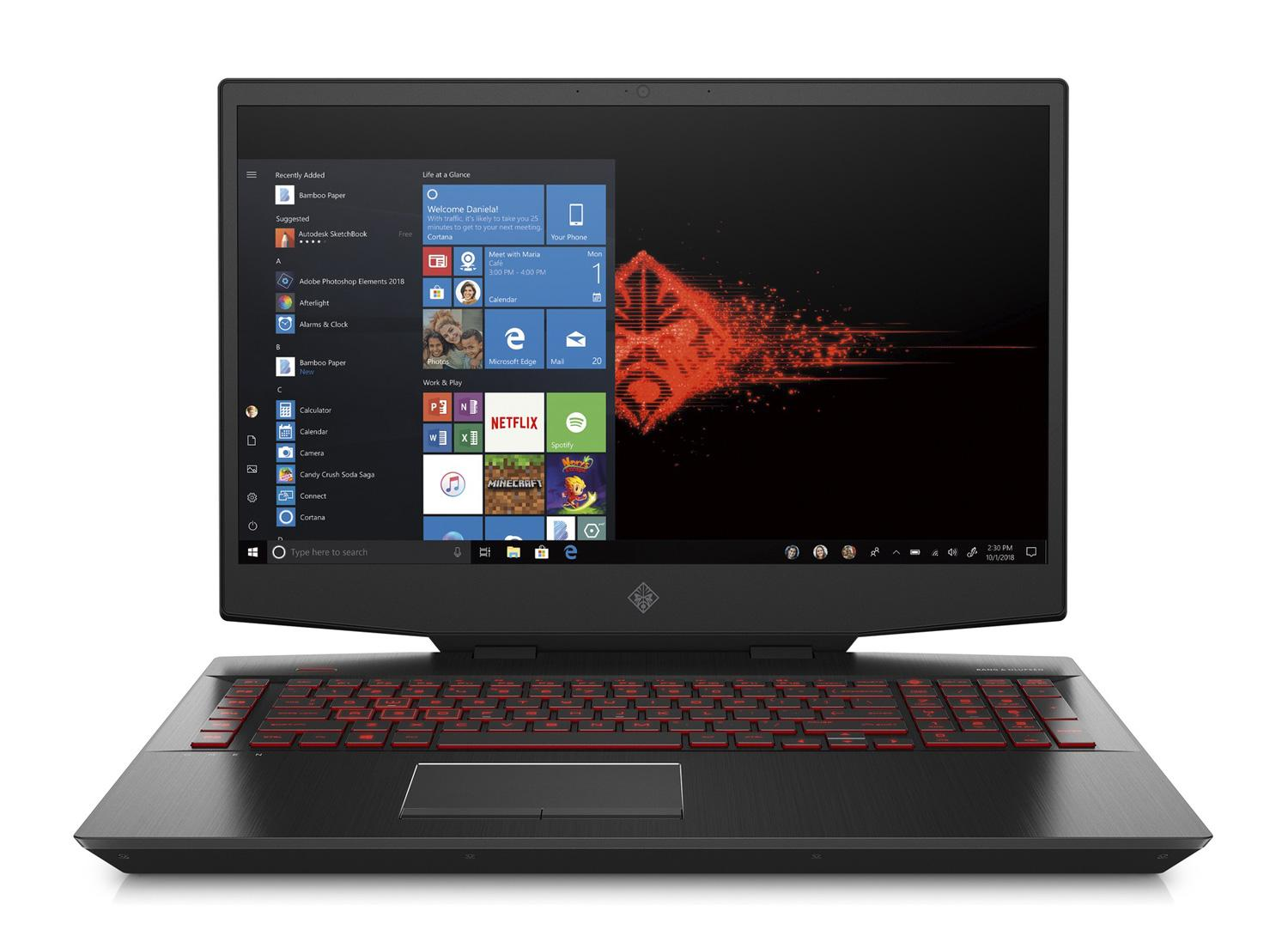 Ordinateur portable HP Omen 17-cb0037nf - Core i9, RTX 2080, IPS 144Hz, SSD Optane H10 - photo 2