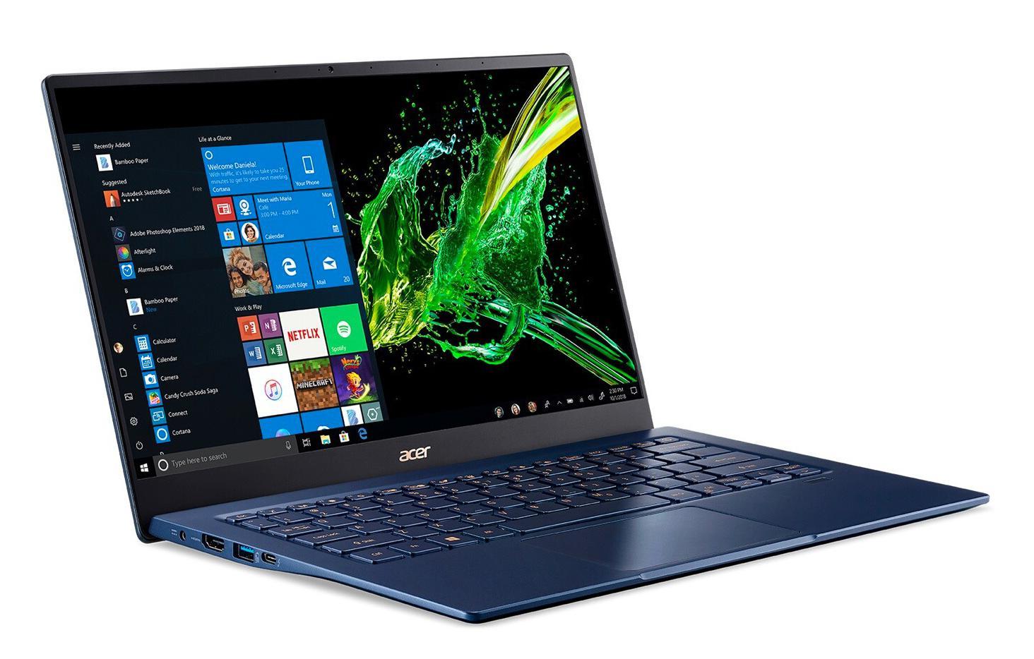 Image du PC portable Acer Swift 5 SF514-54GT-75RM Bleu - Tactile, MX350