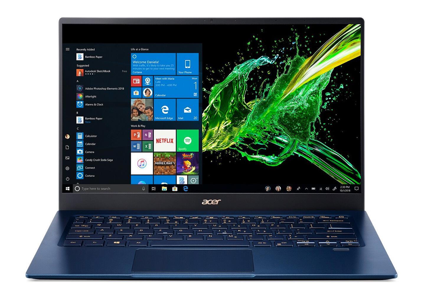 Ordinateur portable Acer Swift 5 SF514-54GT-75RM Bleu - Tactile, MX350 - photo 2