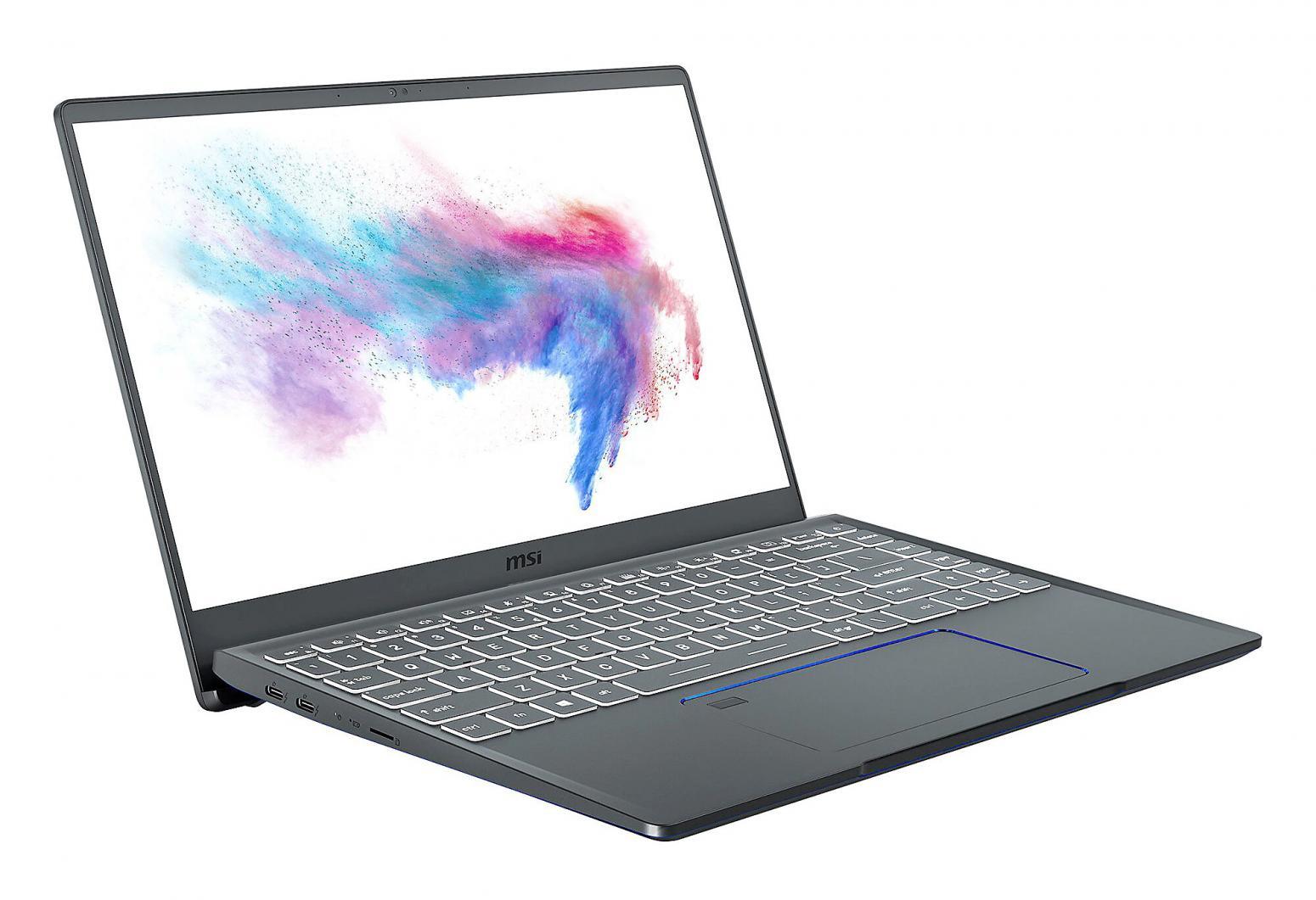 Image du PC portable MSI Prestige 14 A10SC-034FR Gris - GTX 1650 Max-Q