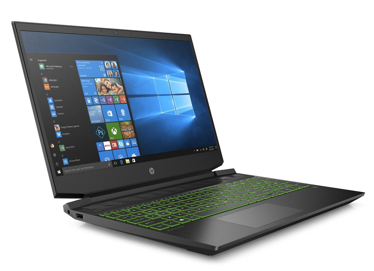 Image du PC portable HP Pavilion 15-ec1045nf Noir/Vert - GTX 1660 Ti