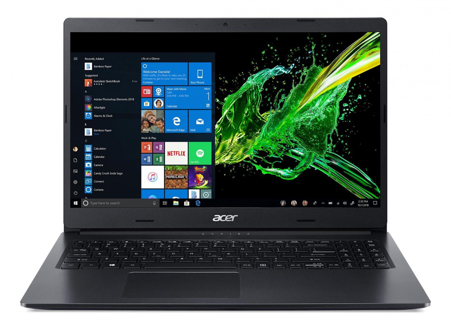 Image du PC portable Acer Aspire 3 A315-55G-550F Noir - MX230, 1.1 To