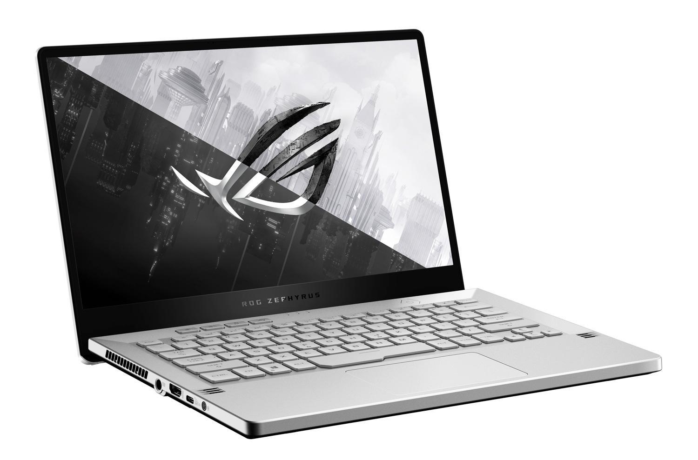 Image du PC portable Asus ROG Zephyrus G14 GA401QM-009T Blanc/Argent - QHD 120Hz, RTX 3060
