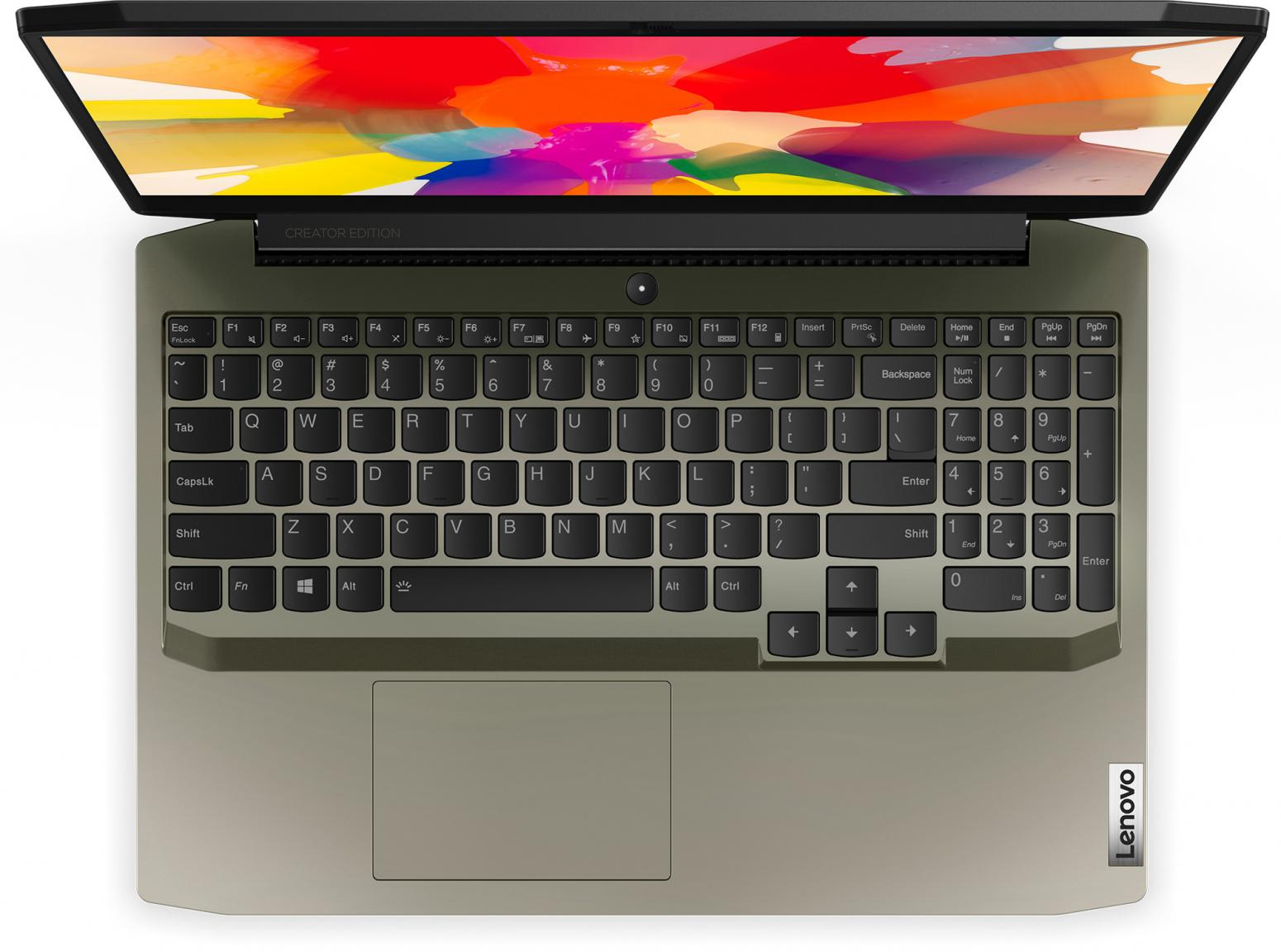 Ordinateur portable Lenovo  IdeaPad Creator 5 15IMH05 (82D4004WFR) Vert Kaki - GTX 1650 Ti, 144Hz - photo 4