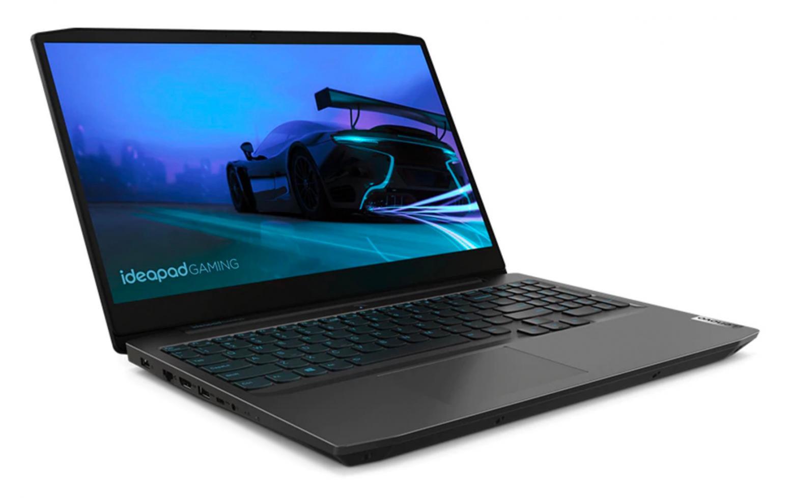 Image du PC portable Lenovo IdeaPad Gaming 3 15IMH05 (81Y400YUFR) Noir - GTX 1650 Ti, 120Hz, Sans Windows