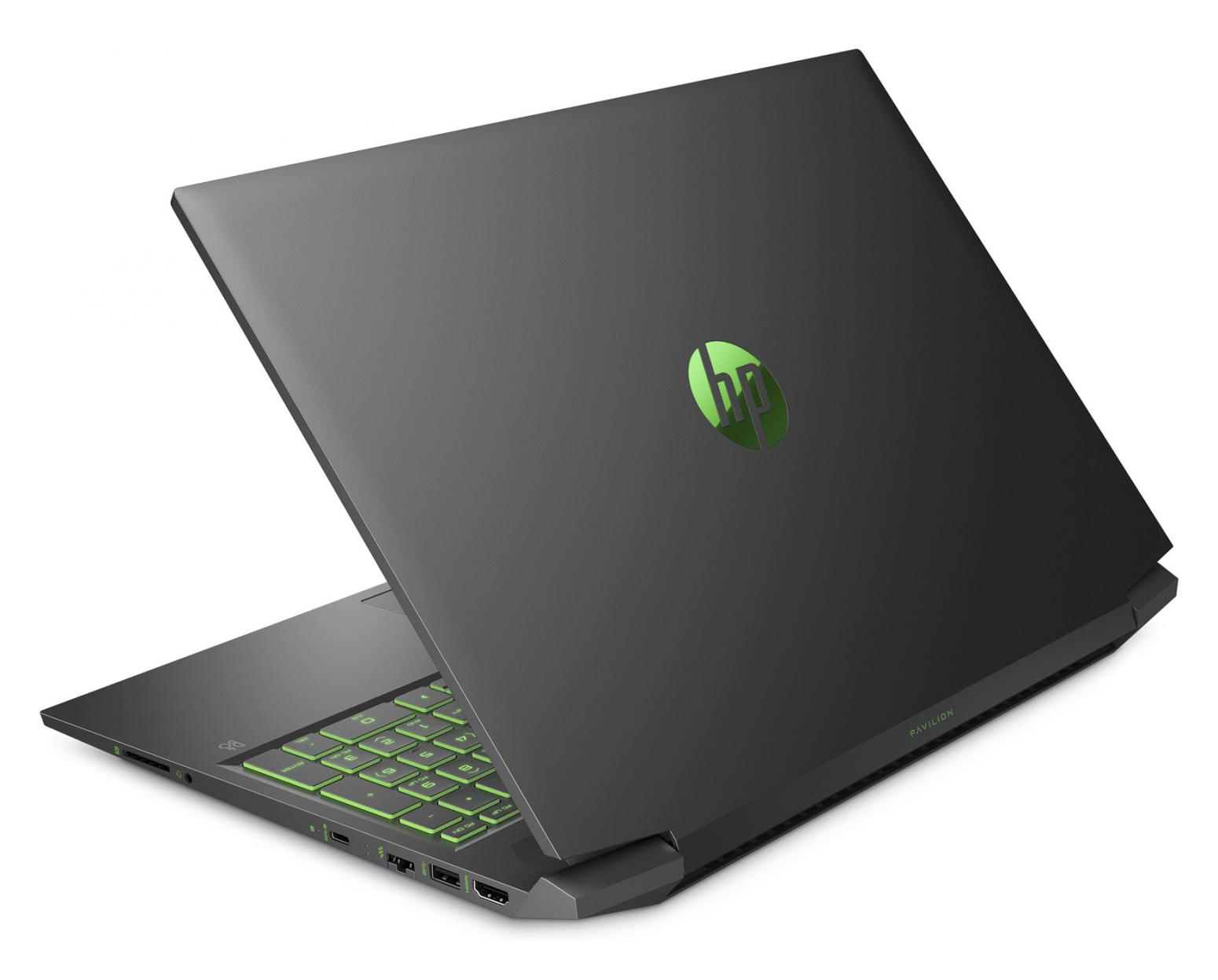 Image du PC portable HP Pavilion Gaming 16-a0031nf Noir/Vert - GTX 1650 Ti, 1.2 To