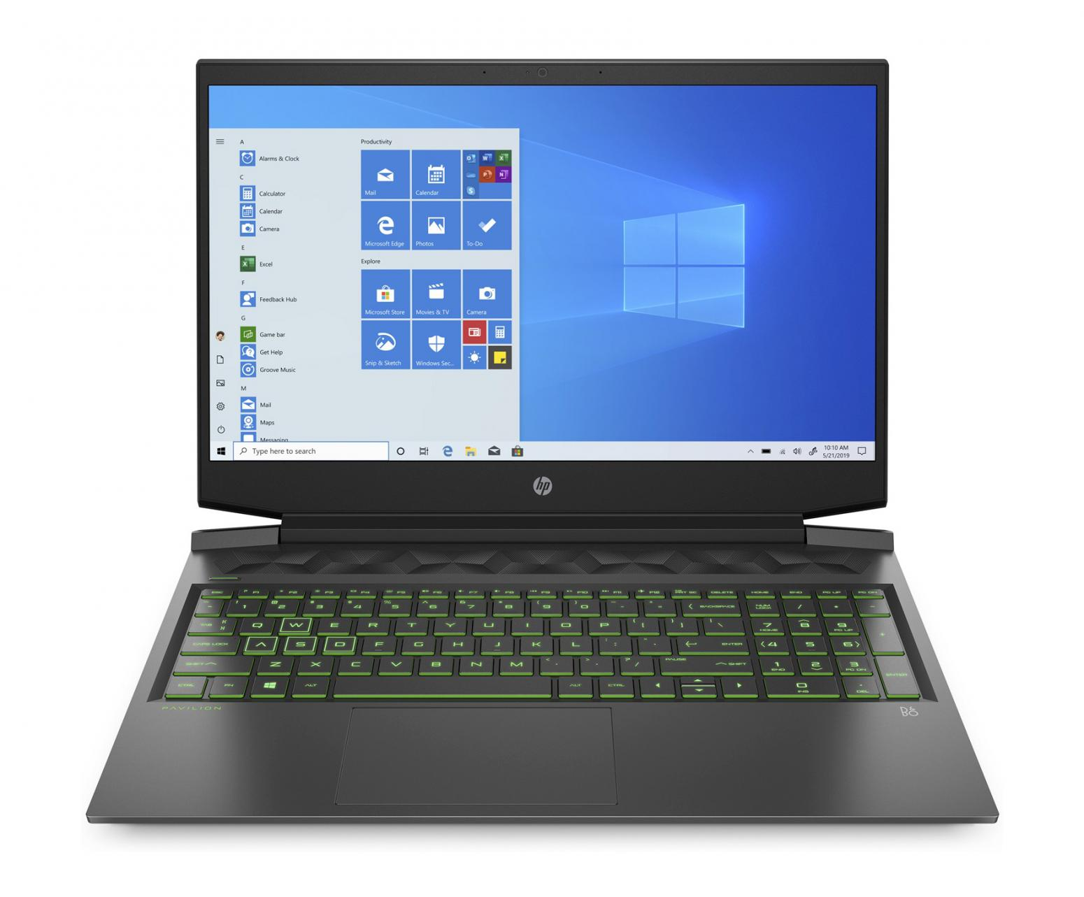 Ordinateur portable HP Pavilion Gaming 16-a0031nf Noir/Vert - GTX 1650 Ti, 1.2 To - photo 2