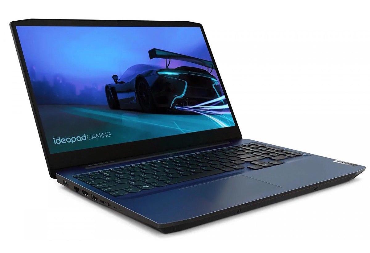 Image du PC portable Lenovo IdeaPad Gaming 3 15ARH05 (82EY001LFR) Bleu - GTX 1650