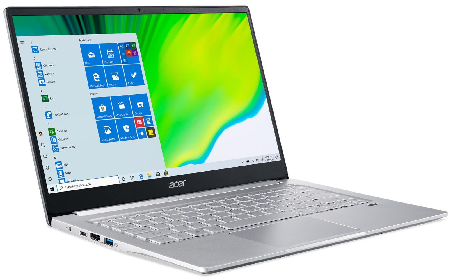 Image du PC portable Acer Swift 3 SF314-59-56W5 Argent