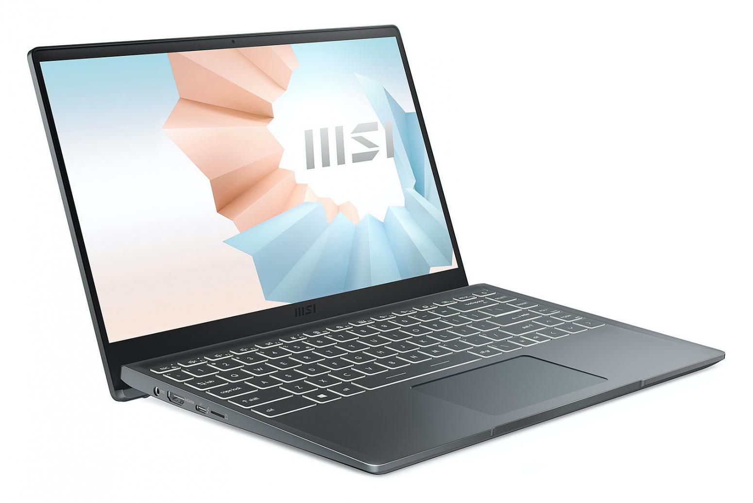 Image du PC portable MSI Modern 14 B11SB-053FR Gris - MX450