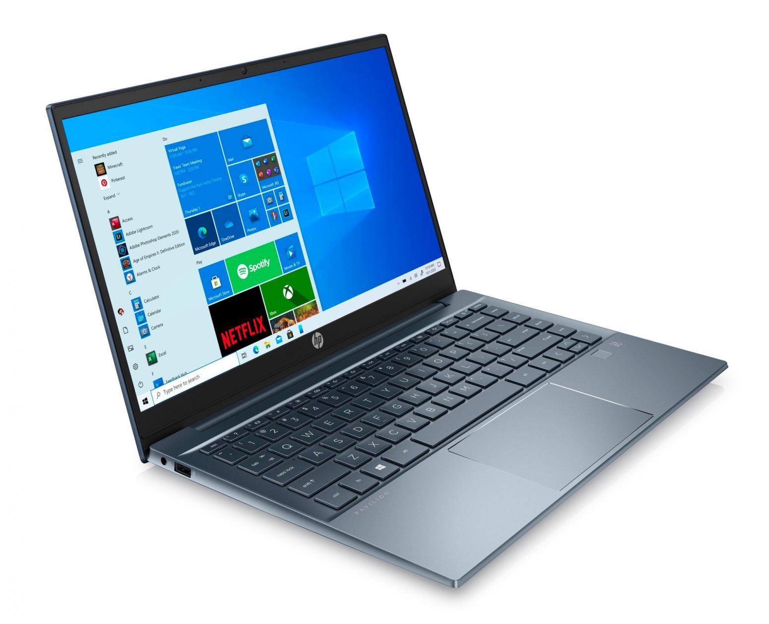 Image du PC portable HP Pavilion 14-ec0048nf Bleu - Ryzen 5
