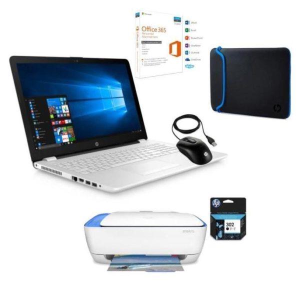 hp 15 bw038nf pc portable 15 pouces bureautique blanc a6 pack 399 laptopspirit. Black Bedroom Furniture Sets. Home Design Ideas