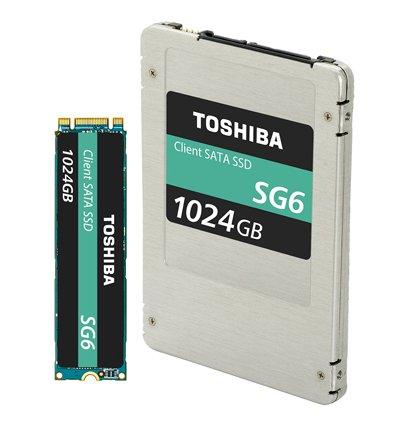 Toshiba SG6, nouveau SSD avec mémoire Flash 3D 64 couches jusqu'à 1 To