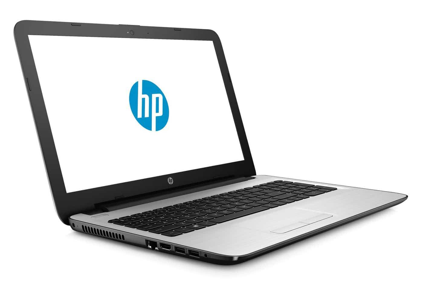 HP 15-ay076nf, PC portable 15 pouces bureautique argent blanc (349€)