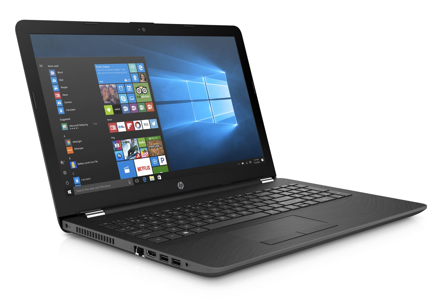HP 15-bs067nf, PC portable 15 pouces Kaby Lake noir (329€)