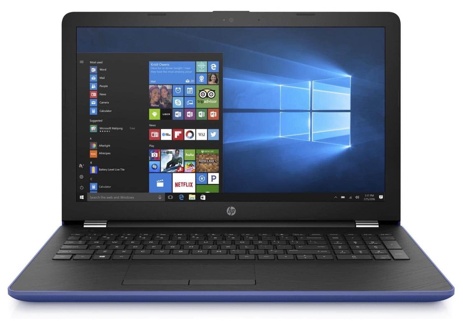 HP 15-bw032nf, PC portable 15 pouces Bleu 8 Go Radeon 520 à 455€