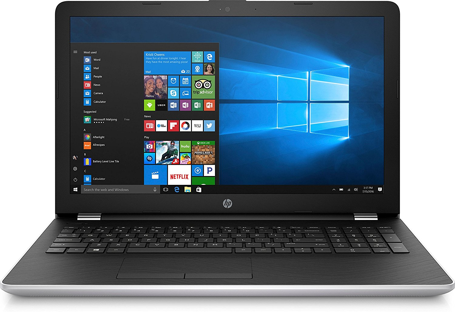 HP 15-bw039nf, PC portable 15 pouces SSD+HDD Stoney Ridge A9 8 Go à 499€