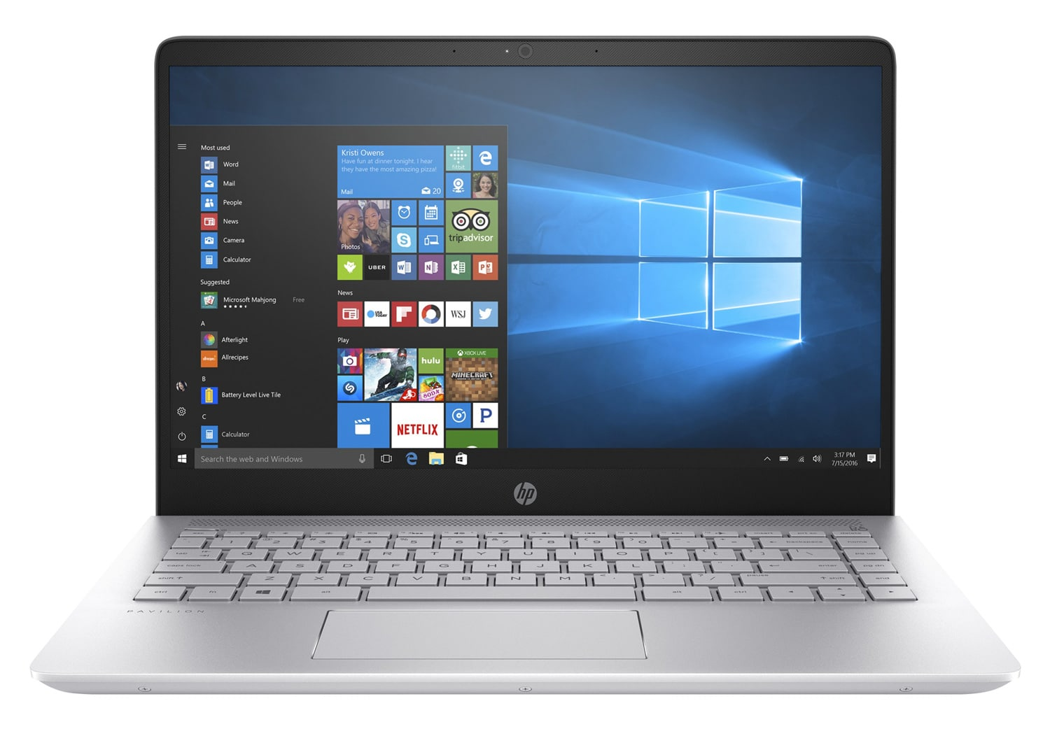 HP Pavilion 14-bk007nf à 699€, Ultrabook 14 pouces Full IPS SSD 256+1 To Kaby