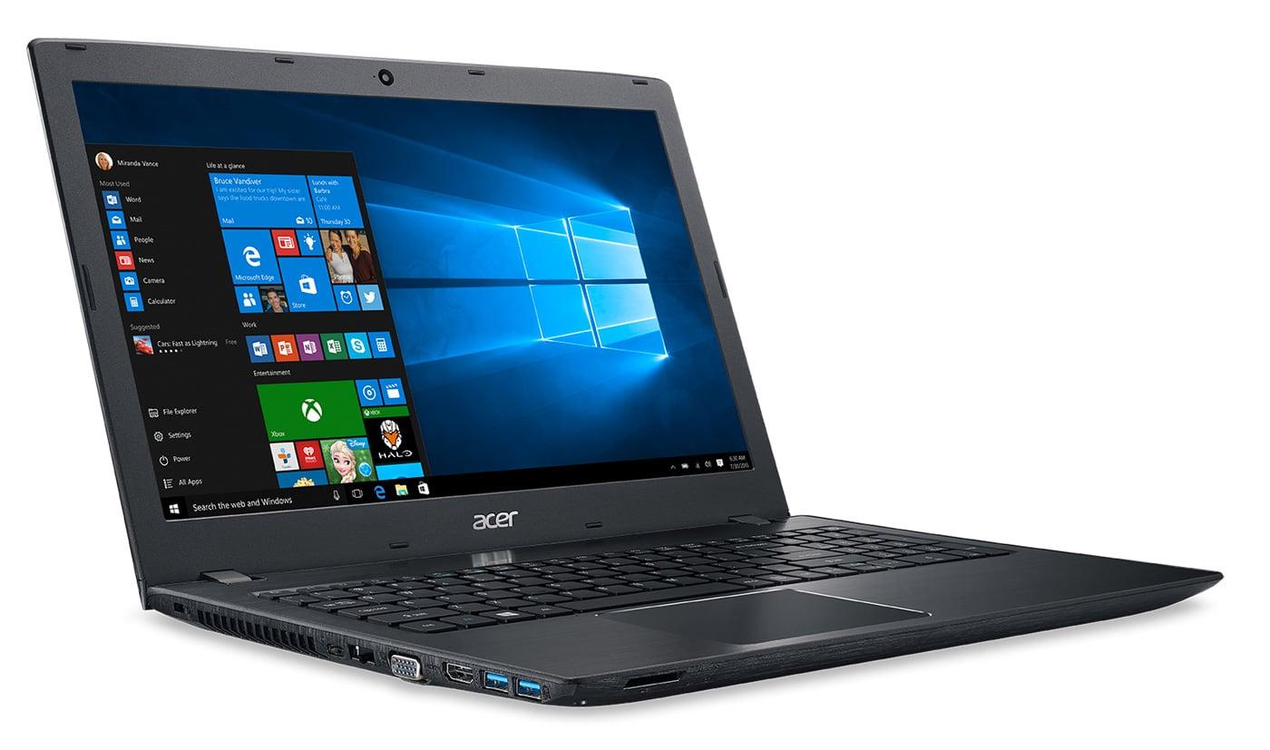 Acer Aspire E5-576-57FL promo 490€, PC portable 15 pouces mat SSD Core i5 noir