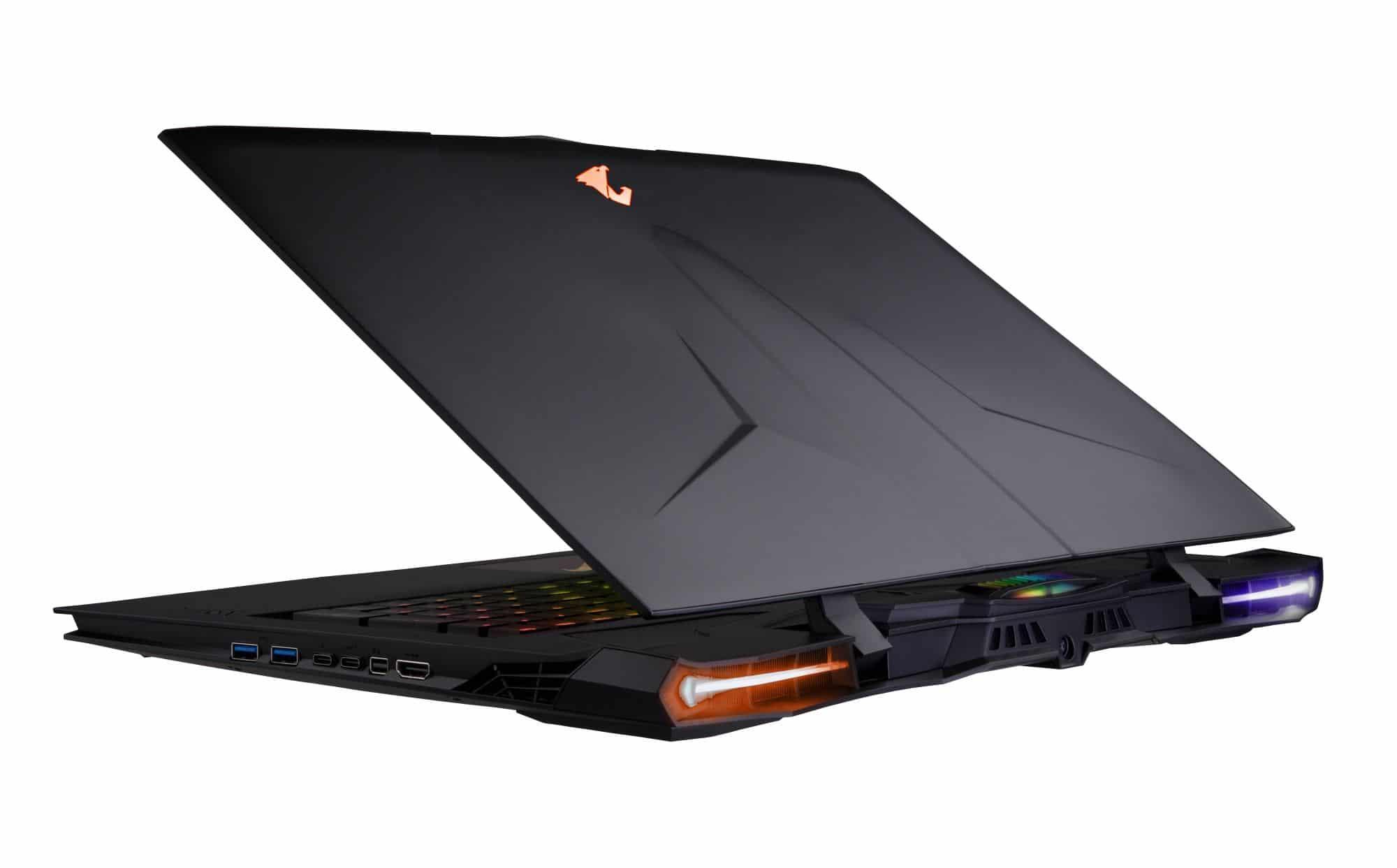 Aorus X9, nouveau PC portable gamer 17 pouces IPS SLI GTX 1070 Quad i7 HK