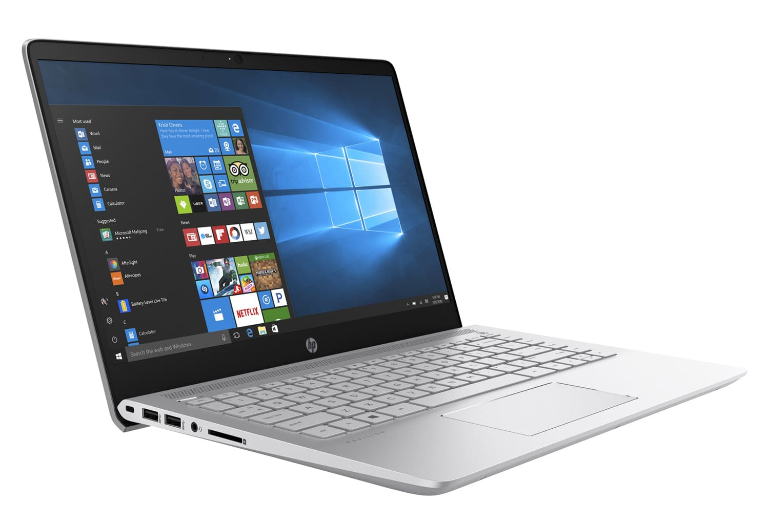 HP Pavilion 14-bk011nf, Ultrabook 14 pouces IPS Kaby Lake SSD (399€)