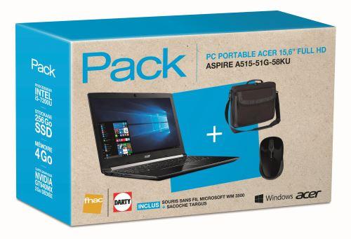 "Acer Aspire A515-51G-58KU pack 699€, PC portable 15"" Full SSD 940MX i5"