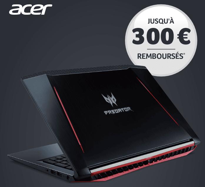 """<span class=""""tagtitre"""">Bon Plan - </span>jusqu'à 300 euros remboursés pour l'achat d'un PC portable Acer"""