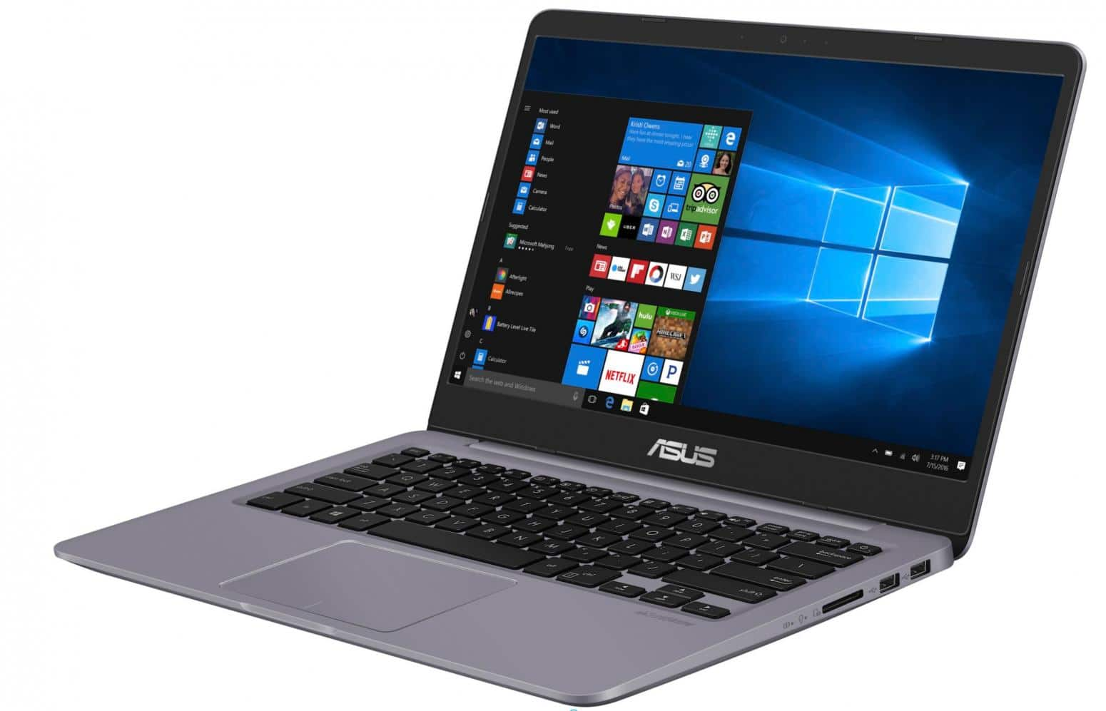Asus VivoBook S410UA-EB032T, ultrabook 14 pouces SSD+HDD Kaby-R pack 794€