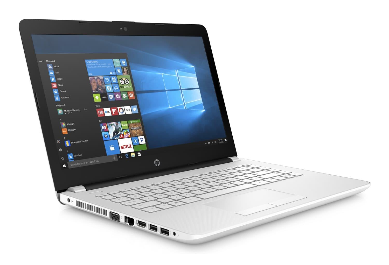 HP 14-bs014nf, PC portable 14 pouces IPS SSD bureautique blanc pas cher (299€)