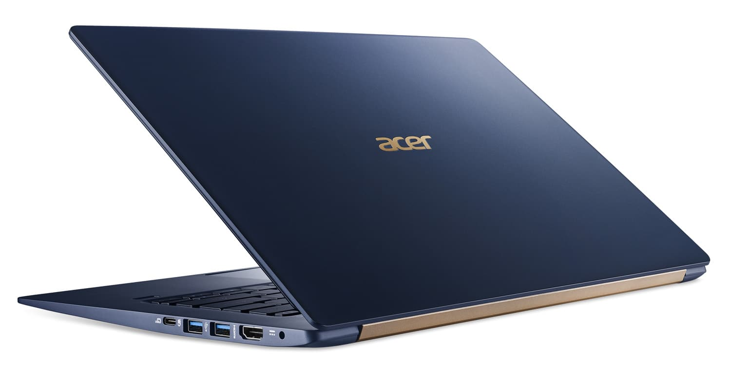 Acer Swift SF514-52T-56JV à 1099€, Ultrabook IPS tactile 1 Kg Kaby Refresh SSD