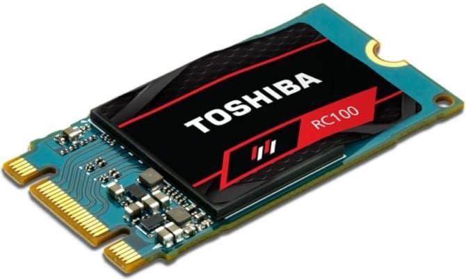 """<span class=""""tagtitre"""">CES 2018 - </span>nouveau SSD Toshiba RC100, externe XS700 et technologie QLC NAND"""