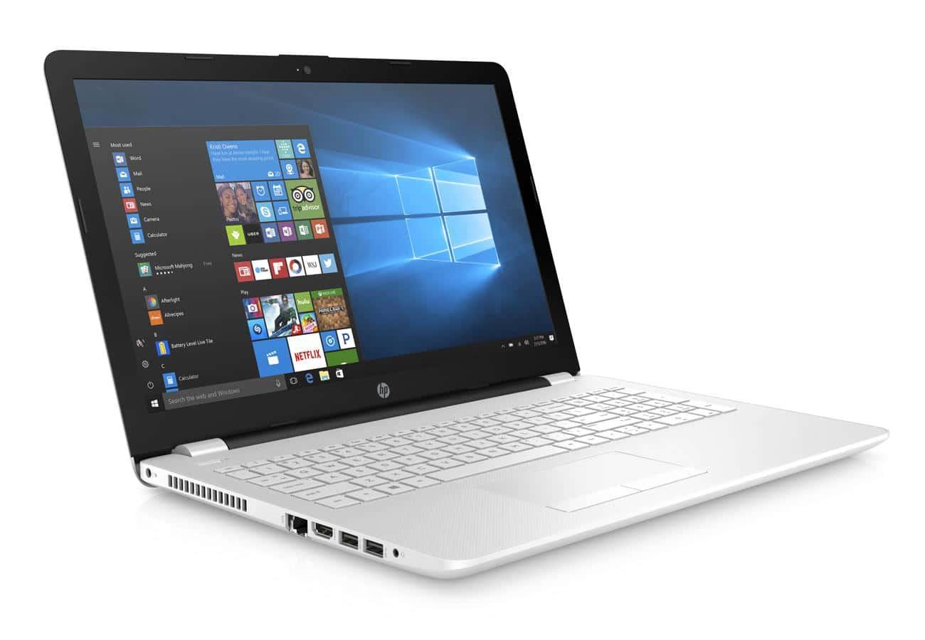 HP 15-bw055nf, PC portable 15 pouces bureautique blanc (349€)