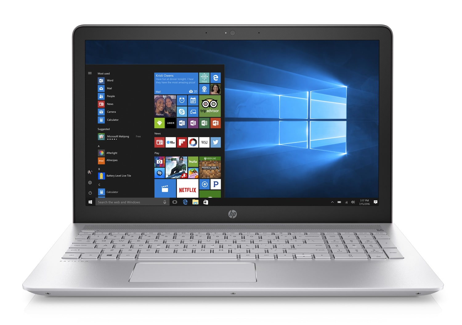 HP Pavilion 15-cc518nf, ultrabook 15 pouces 2,1 To i7 Kaby Full HD 940MX à 899€