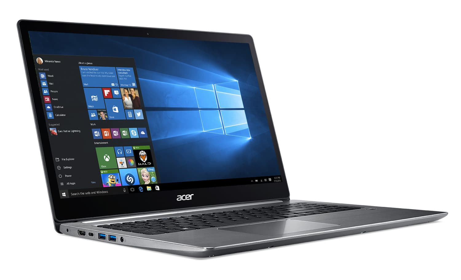 Acer Swift 3 SF315-51-39SF, Ultrabook 15 Full IPS SSD Kaby (466€)