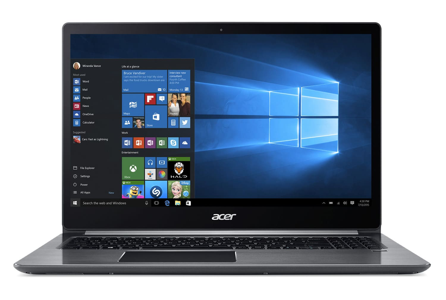 Acer Swift SF315-51-34EF à 799€, Ultrabook Full IPS SSD 256 Kaby Lake 8 Go