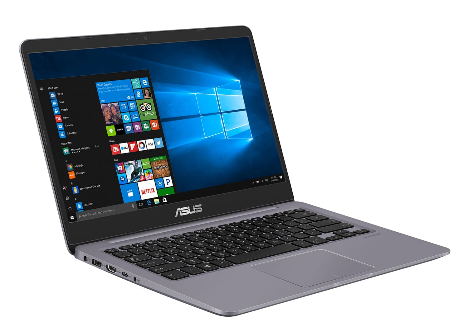 "Asus S410UN-EB080T, Ultrabook 14"" MX150 Kaby Refresh SSD (1099€)"