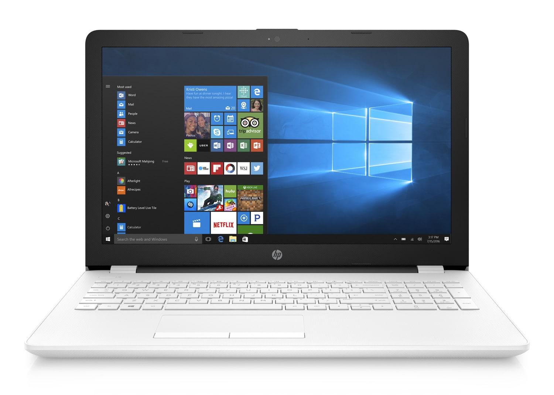 HP 15-bs002nf, PC portable 15 pouces blanc bureautique (349€)
