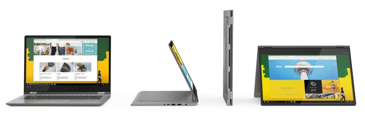 Lenovo Yoga 730 et 530, Ultrabooks convertibles en Tablette avec Alexa